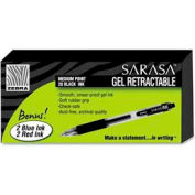 Zebra Sarasa Gel Retractable Pen, Medium  0.7mm, Black Ink, 20/Pack + 4 Bonus Pens