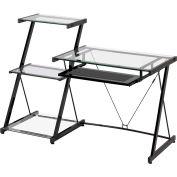 """Z-Line Nero Desk and Bookcase, 57-1/2""""W x 24""""D x 40""""H, Black"""