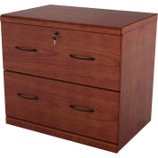 "Z-Line 2-Drawer Cherry Lateral File, 29""W x 16-3/8""D x 28-1/4""H, Cherry"