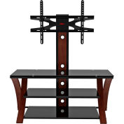 "Z-Line Makena Flat Panel 3 in 1 Television Mounting System, 50""W x 20""D x 50""H, Cherry/Black"