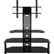"""Z-Line Aviton Flat Panel TV Stand with Integrated Mount, 44""""W x 20-1/10""""D x 50""""H, Black"""