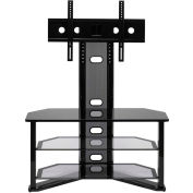 "Z-Line Madrid Flat Panel TV Stand with Integrated Mount, 44""W x 18""D x 50""H, Black"