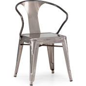 "Zuo Modern Helix Chair, 31""H, Steel Frame, Gunmetal - Pkg Qty 2"