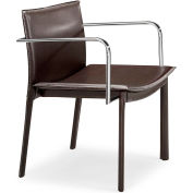 "Zuo Modern Gekko Conference Chair, 28""H, Chromed Steel Frame, Espresso - Pkg Qty 2"