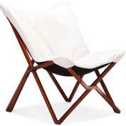 "Zuo Modern Draper Lounge Chair, 37-1/2""H, Wood Frame Frame, White"
