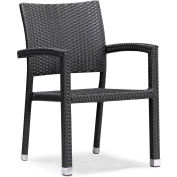 "Zuo Modern Boracay Chair, 34-1/2""H, Aluminum Frame Frame, Espresso"
