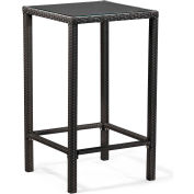 "Zuo Modern Anguilla Table, 42-11/16""H, Synthetic Weave Top, Aluminum Frame Frame, Espresso"