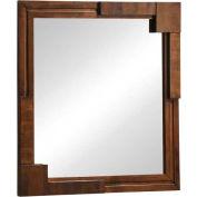 """Zuo Modern San Diego Mirror Walnut - 39-2/5""""W x 1-1/2""""D x 39-2/5""""H"""