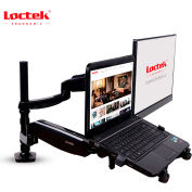 "Loctek Deluxe Full Motion Dual Arm Desk Mount, for 10""-27"" Monitor & Laptop"