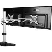 """FLEXIMOUNTS Dual Arm Desk Mount, for 10""""-27"""" Monitors"""