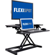 "FlexiSpot M7B 28"" Height Adjustable Sit-Stand Desk Riser - Deep Keyboard Tray - Black"