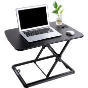 "FlexiSpot M7MB 35"" Height Adjustable Sit-Stand Laptop Desk Riser - Deep Keyboard Tray - Black"