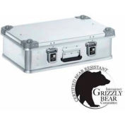 """Zarges K-470 Aluminum Shipping and Storage Case 40810 - 23-5/8""""L x 15-11/16""""W x 7-1/8""""H Silver"""