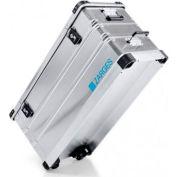 "Zarges K424 XC Aluminum Wheeled Transport Case 41815 - 37-13/16""L x 15-3/4""W x 17-15/16""H Silver"