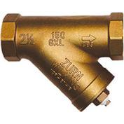 Zurn 114-SXL 1-1/4 In. FNPT x FNPT Strainer - 20 Mesh Screen - 300 WOG Lead Free Cast Bronze