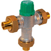 Zurn 12-ZW1070XL 1/2 In. FNPT Thermostatic Mixing Valve - Lead Free Cast Bronze - ASSE1016, ASSE1070