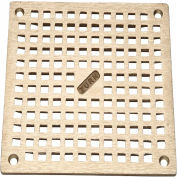 "Zurn 6"" x 6"" Square Floor Drain W/Screws, Brass"