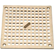 "Zurn 6"" x 6"" Square Floor Drain W/Screws, Nickel"