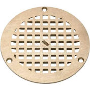 "Zurn 7"" Dia. Round Floor Drain W/Screws, Nickel"