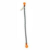 Mazzella Lifting B151008 20' Single Leg Chain Sling W/ Grab Hook