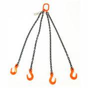 Mazzella Lifting B152004 8' Quad Leg Chain Sling W/ Sling Hook