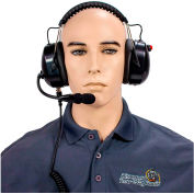 RCA HS65NR-X03S High Noise Reduction Two-Way Radio Headset, Over the Head, Dual Muff
