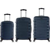 "InUSA New York Lightweight Hardside Luggage Spinner 3-Piece Set 20""/24""/28"" - Navy Blue"