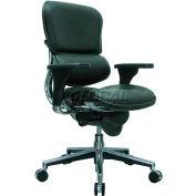 Eurotech Ergohuman Mid Back Chair - LE10ERGLO(N) - Black Leather