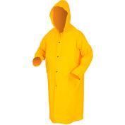 MCR Safety 200CXL Classic Rain Coat, X-Large, .35mm, PVC/Polyester, Detachable Hood, Yellow