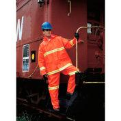 MCR Safety 2013RXL Luminator™ 3-Piece Rain Suit, Orange w/ Lime Silver Stripes, X-Large
