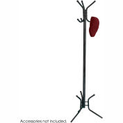 Safco® Metal Coat Tree, 6-Hook, Black