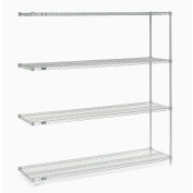"Nexelate® Silver Epoxy Wire Shelving Add-On 72""W x 18""D x 74""H"