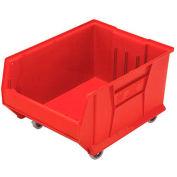 Quantum Mobile Hulk Plastic Stackable Storage Bin QUS965MOB 18-1/4 x 23-7/8 x 12 Red
