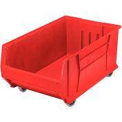 Quantum Mobile Hulk Plastic Stackable Storage Bin QUS985MOB 18-1/4 x 29-7/8 x 12 Red