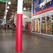 "Ideal Shield® Round Column Wrap, HDPE, Red, 8"" Diameter x 60""H"