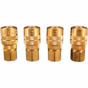 """Milton s-715-4 M Style Industrial Coupler 4 piece 1/4"""" FNPT"""