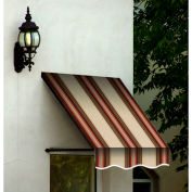 Awntech SANT22-3BRTER Window/Entry Awning 3-3/8'W x 2-9/16'H x 2'D Brown/Terra Cotta