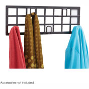 Safco® Wall Grid Coat Rack, 5-Hooks, Black