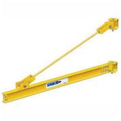 1 Ton, 18' span, Spanco 301 Series, Steel, Wall Mounted, Wall Bracket, Jib Crane, Tie Rod Design