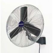 "Global Industrial™ 24"" Industrial Wall Mounted Fan, Oscillating, 7525 CFM, 1/4 HP"