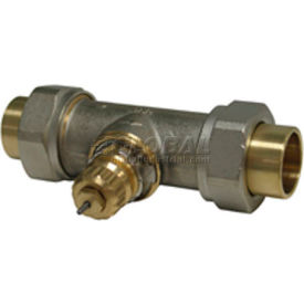 "Radiator or baseboard valve body - 3/4"" solder/union straight for 2-pipe steam"