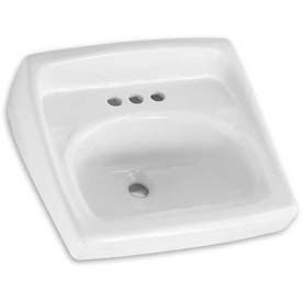 American Standard 0356015.020 Wall Hung Square Lavatory Sink with 8-in Center