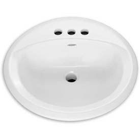 """American Standard Rondalyn 0491.019.020 Countertop Round Sink W/4"""" Faucet Holes"""