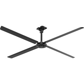 Hunter XP 72124 - Industrial Ceiling HVLS Fan - High Volume Low Speed - 12 Ft. Dia, 1 PH, 110V