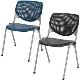 KFI - Poly Stack Chairs with Perforated Back