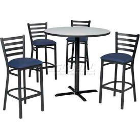 Premier Hospitality Furniture - Bar Height Café Table & Ladder Back Barstools Set