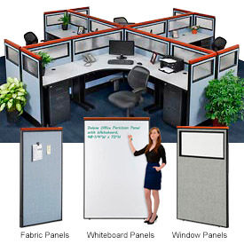 Interion® Deluxe Cubicle Partition Panels
