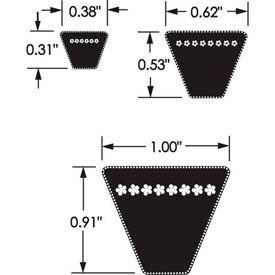 V-Belts, Wedge, Non Cogged, 5V Series