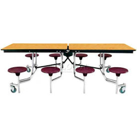 National Public Seating® - Mobile Cafeteria Stool Unit with MDF Core Top & Protect-Edge