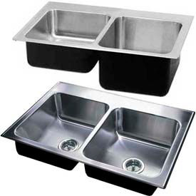 Just Manufacturing ADA Double Bowl Drop-In Sinks